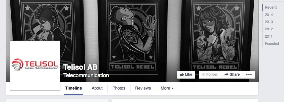 Telisol Facebook telekom telekombranschen